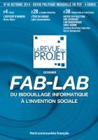 La Revue du projet, n°40, octobre 2014