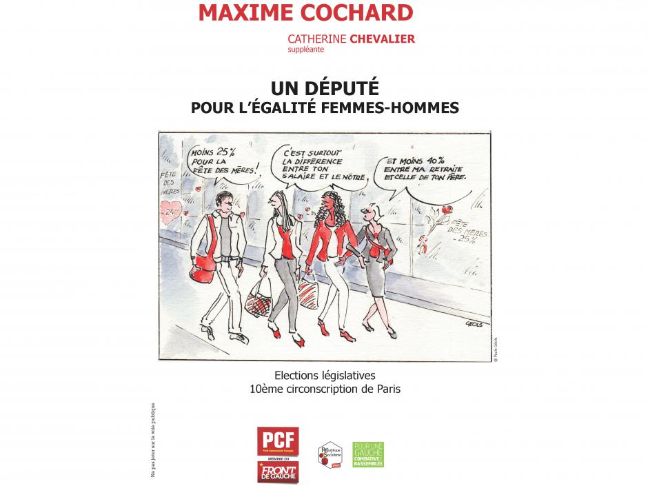 Maxime Cochard, Un député pour l'égalité femmes-hommes dans la 10ème circonscription de Paris