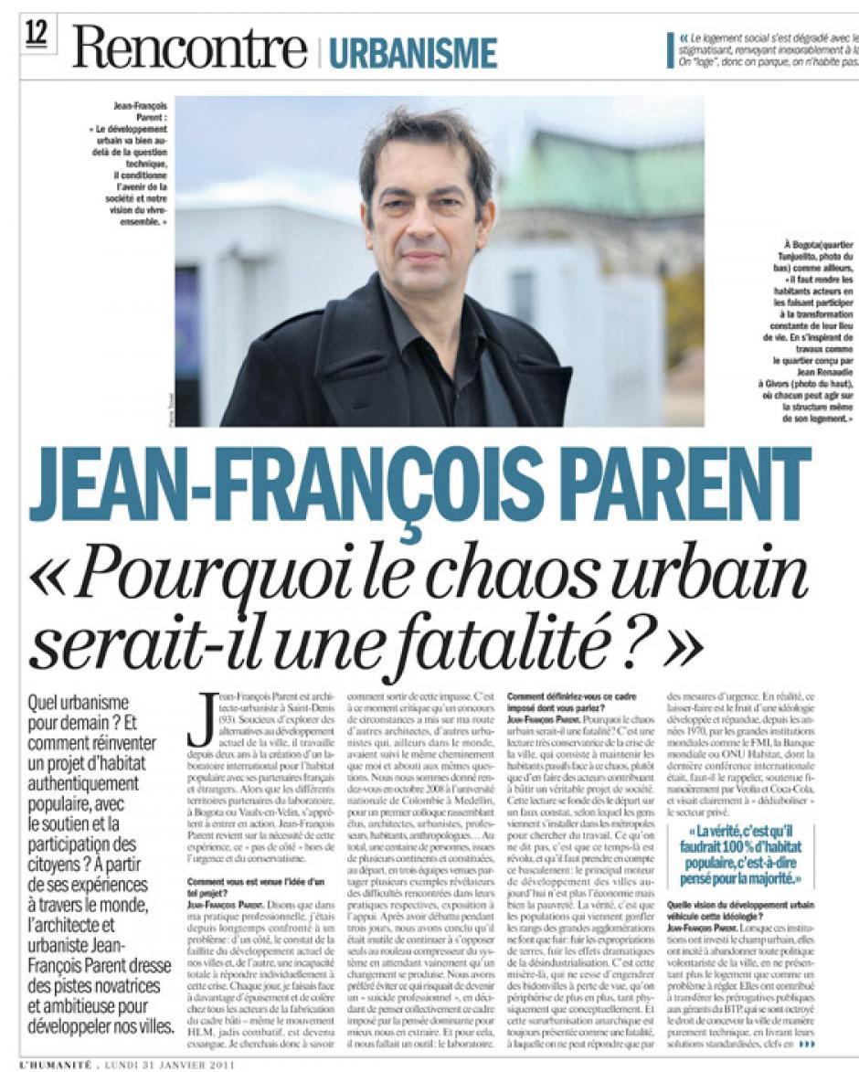 De la civilisation de la ville à une civilisation du mouvement immobile…Jean-François Parent*