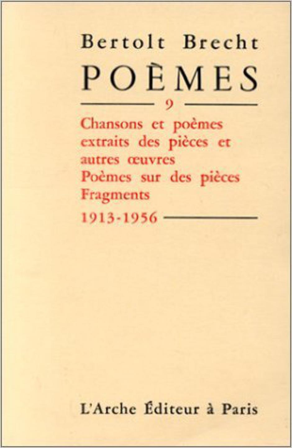 Bertolt Brecht par Francis Combes
