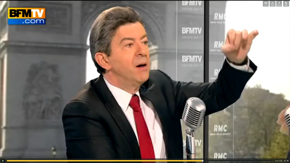 Jean-Luc Mlenchon invit de Bourdin 2012 sur BFM TV 