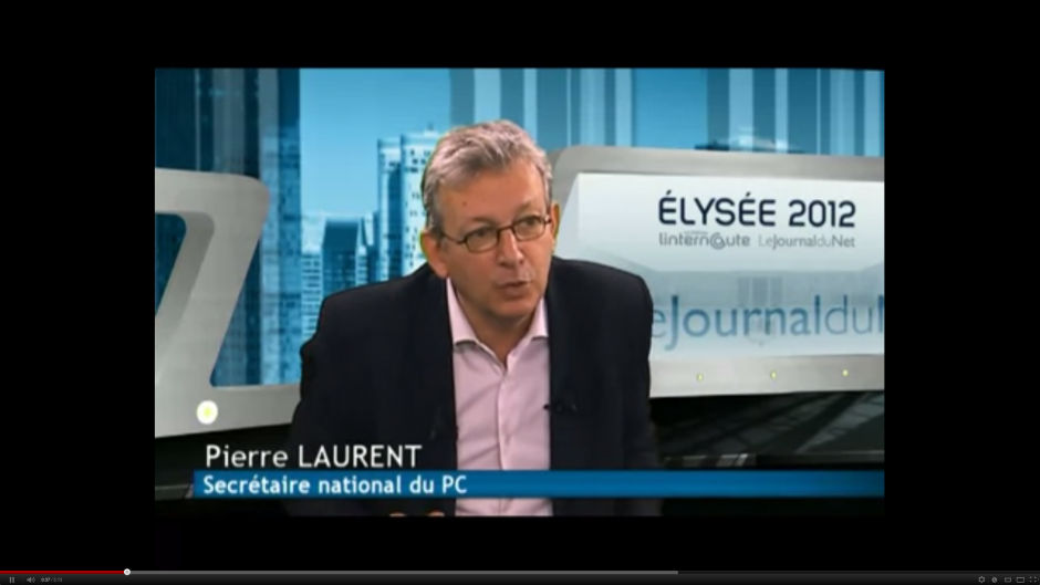 Pierre Laurent au Journal du Net :