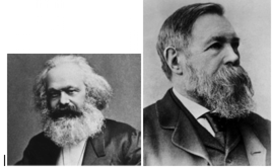 Une discussion vive entre Marx et Engels