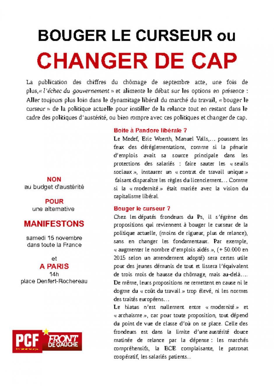 BOUGER LE CURSEUR ou CHANGER DE CAP