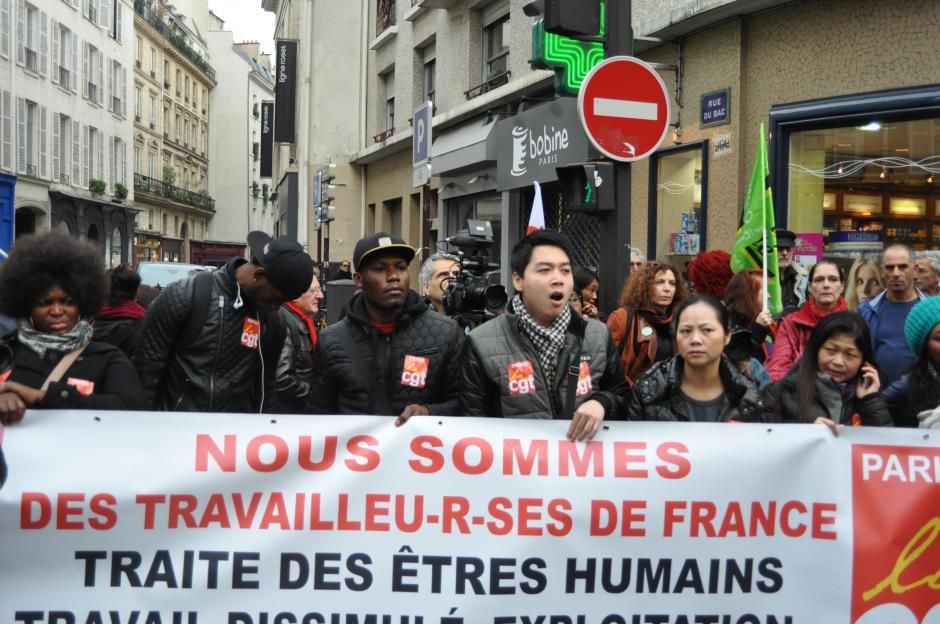 Rassemblement en soutien aux salarié-es du 57 bvd de Strasbourg