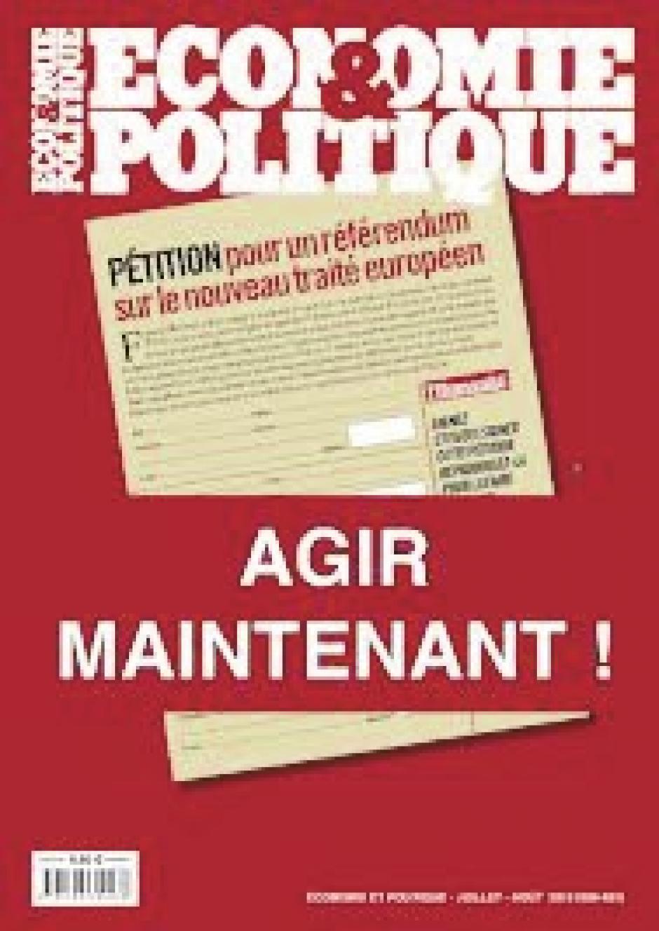 « Agir maintenant » Économie et Politique, n°696-697