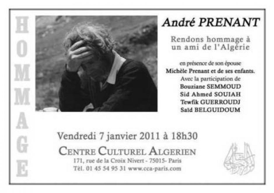 Décolonisation et recolonisation en Algérie, Par André Prenant*