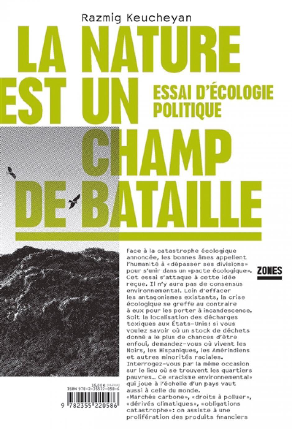 La nature est un champ de bataille, Essai d'écologie politique, Razmig Keucheyan