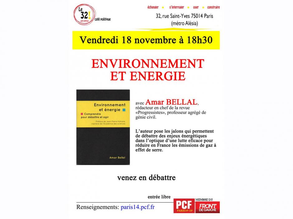 Environnement et énergie Avec Amar Bellal, Rédacteur en chef de la revue «Progressistes», professeur agrégé de génie civil