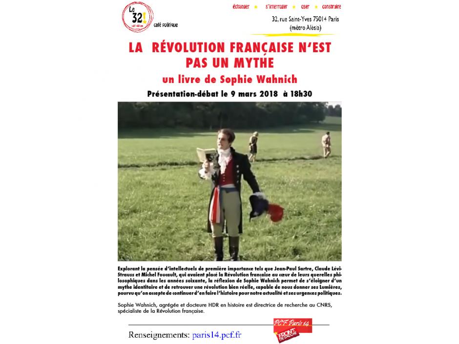 La Révolution française n'est pas un mythe, Présentation-débat du livre de Sophie Wahnich