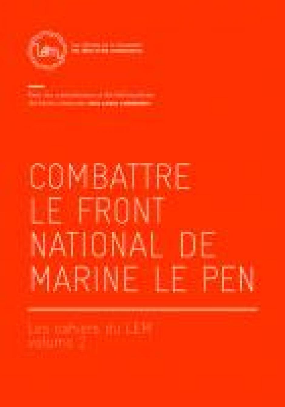 Répondre aux thèses du FN,  Alain Hayot*