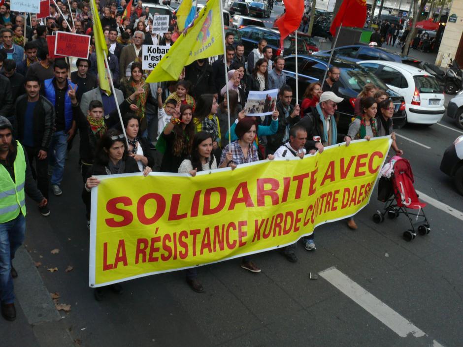 11 octobre : Manifestation de solidarité avec le peuple kurde