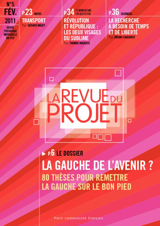 La Revue du Projet, N°5, févier 2011 :