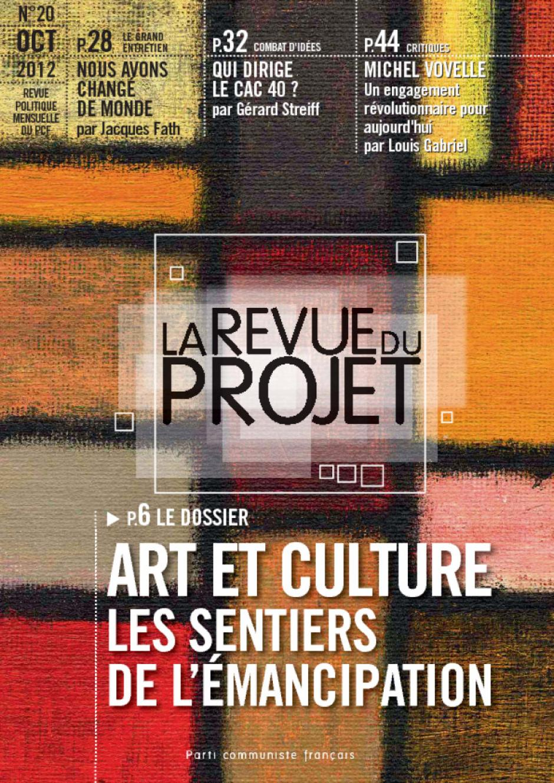 La Revue du  Projet, n° 20,  octobre 2012