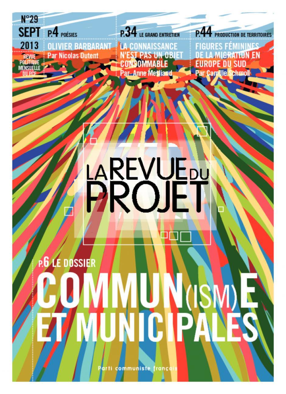 La Revue du  Projet, N° 29,  septembre 2013