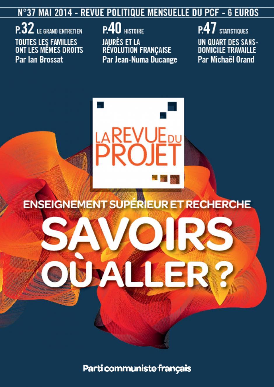 La Revue du projet, n°37, mai 2014
