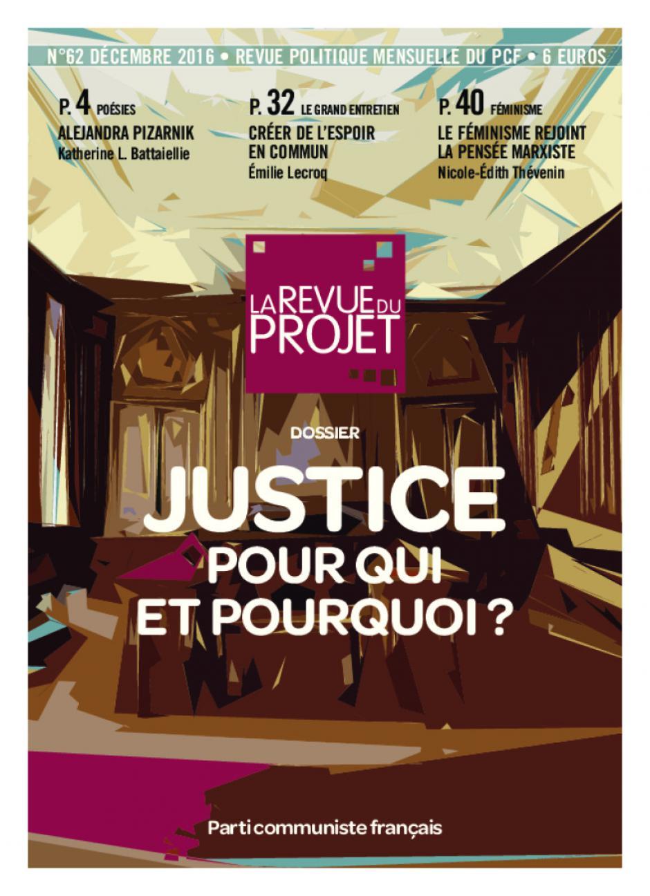 La Revue du projet, n° 62, décembre 2016