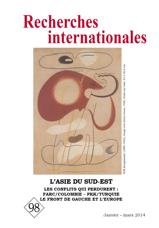 Recherches internationales,  N°98, janvier-mars 2014