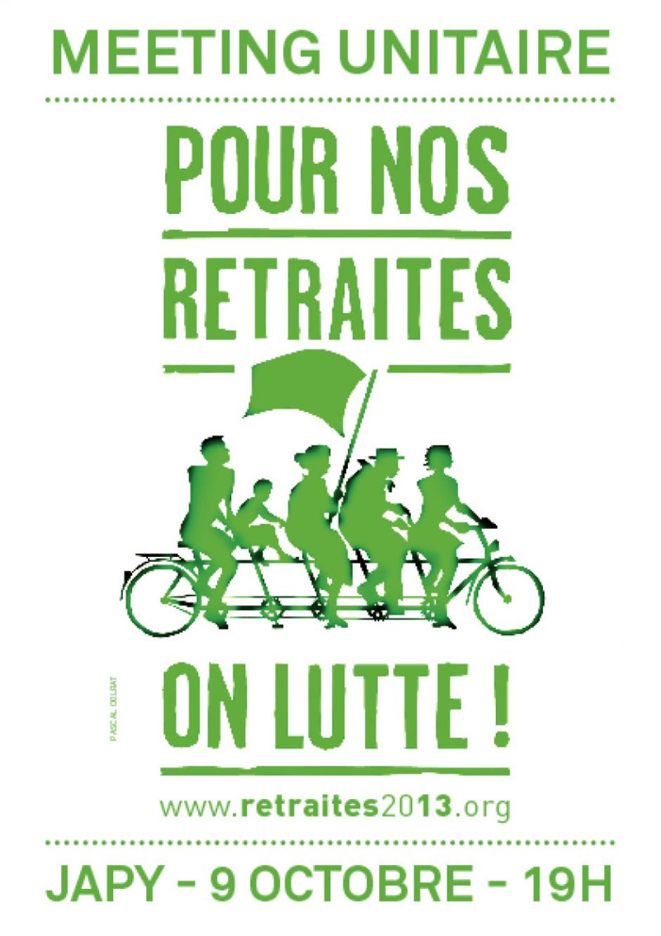 9 octobre 19h30 - Meeting unitaire