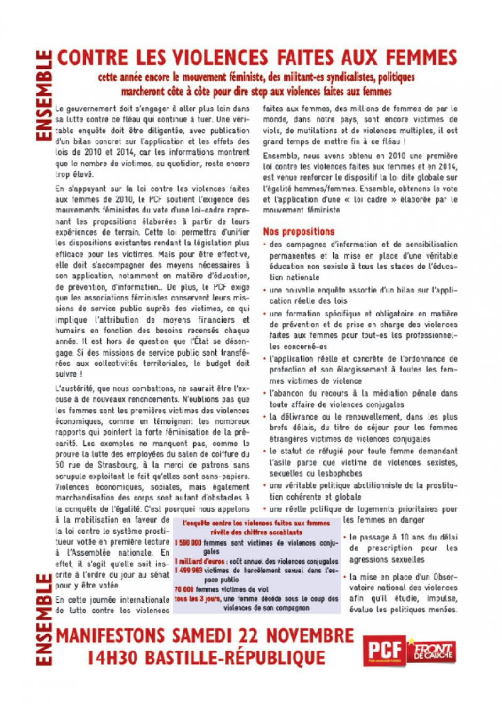 Tract manif 22 novembre